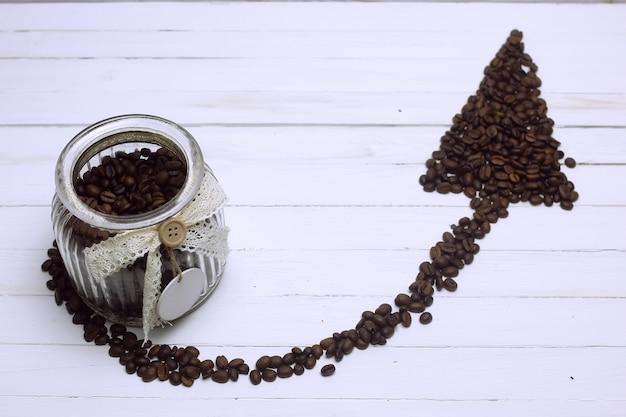 Koffieboon pijl