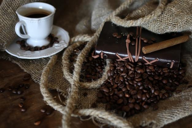 Koffieboon touw boek