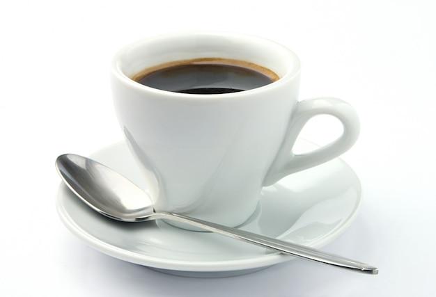 Koffiekopje en lepel