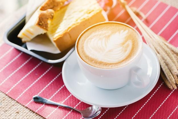 Koffiekopje latte art