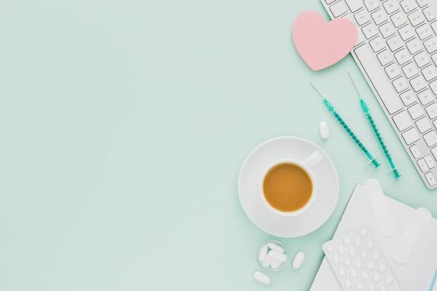 Koffiekopje met kopie-ruimte