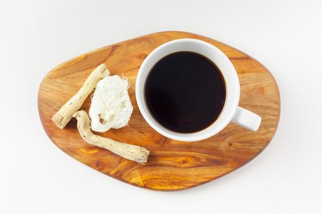 Koffiekopje met neutraal patroon