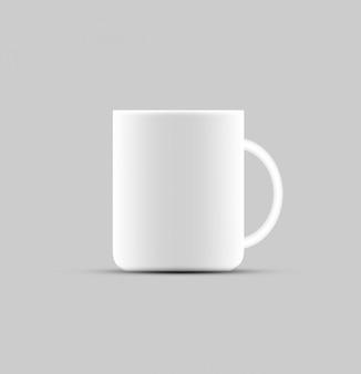 Koffiekopje productontwerp mock-up ontwerp op wit