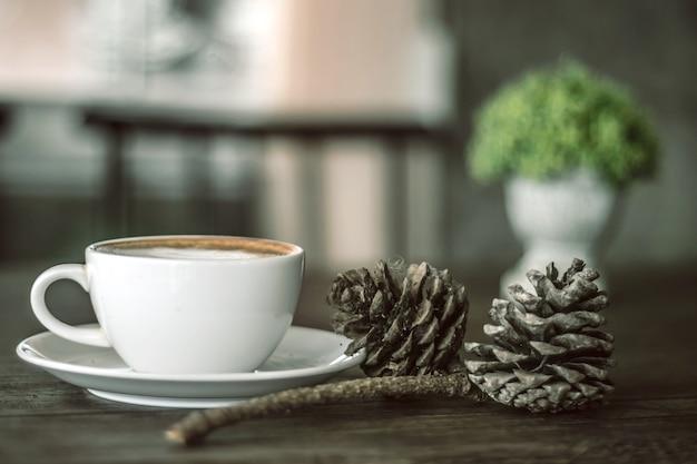 Koffiepauze in de winkel