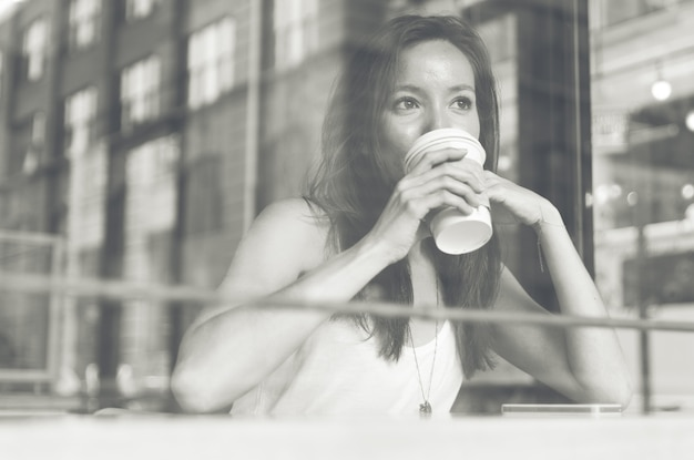 Koffiepauze in een winkel
