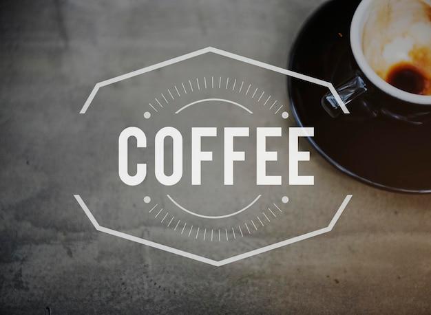 Koffiepauze tijd vrije tijd concept