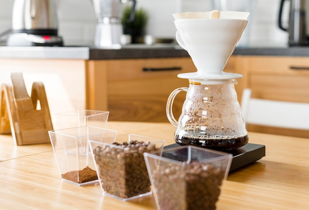 Koffiezetapparaat en bonenassortiment