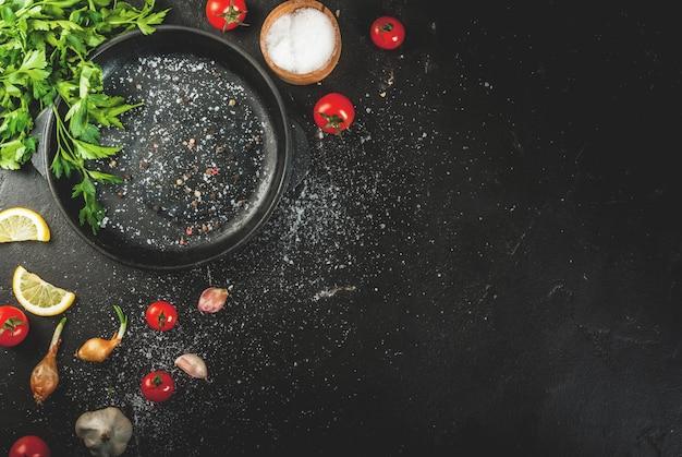 Koken achtergrond met kruiden