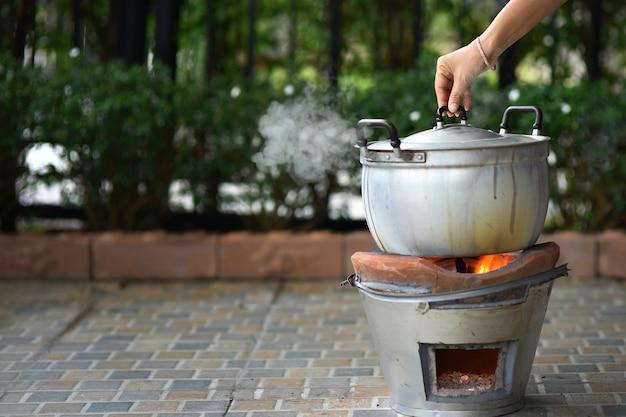 Koken in pot