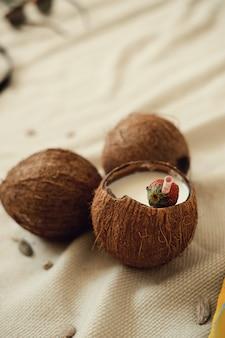 Kokos cocktail, zomervakantie concept
