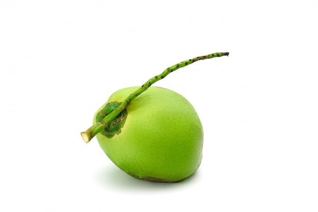 Kokosnoot rijp en smakelijk geïsoleerd