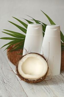 Kokosolie. zuivere natuurlijke kokosolie