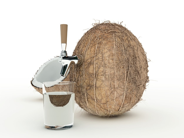 Kokossap 3d-rendering