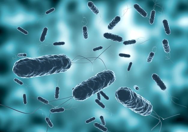 Kolonie van vibrio cholera gezien met een elektronenmicroscoop.