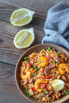 Kom kip en chorizo paella