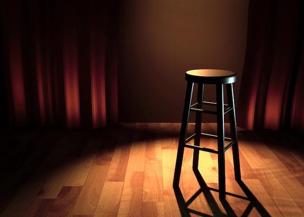 Komedie podium 3d illustratie