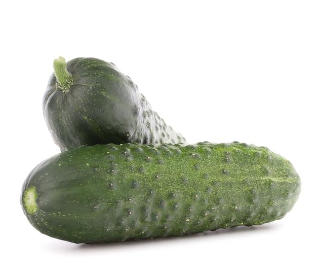 Komkommer groente geïsoleerd op een witte achtergrond knipsel