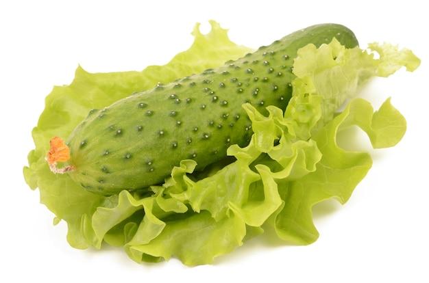 Komkommer op een witte achtergrond