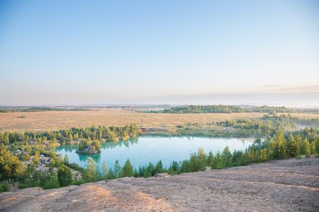 Konduki ontgint landschappen in de tula-regio