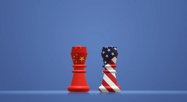 Koning schaken china vs koning schaken amerika