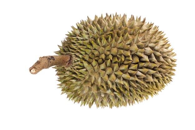 Koning van fruit, durian fruit op witte achtergrond.