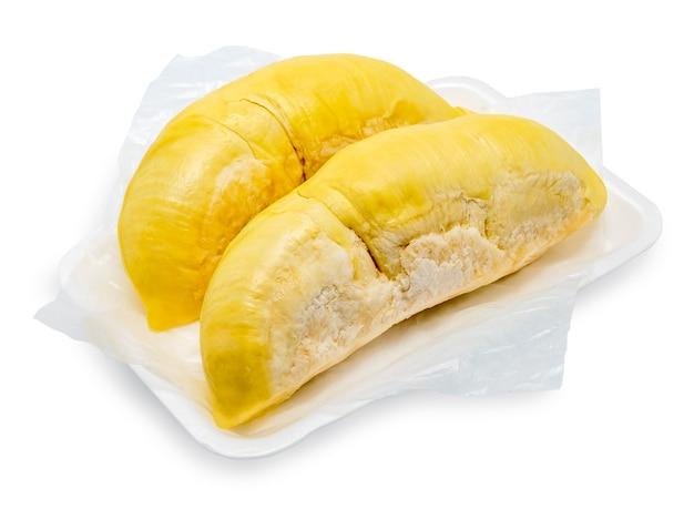 Koning van fruit, durian geïsoleerd op wit, durian geïsoleerd op wit collectie.