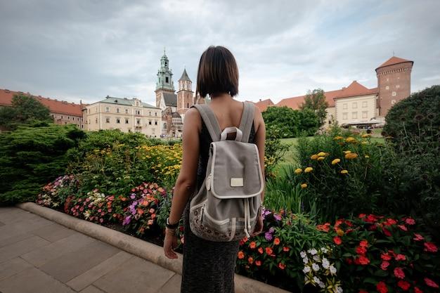 Koninklijk kasteel wawel. historische gebouwen van de kathedraal van wawel.