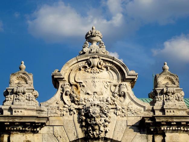 Koninklijk paleis in boedapest, hongarije