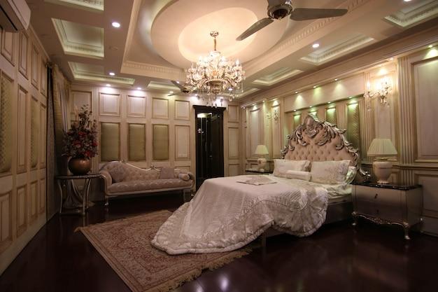 Koninklijke luxe slaapkamer