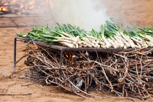 Kookpot koken op open vuur