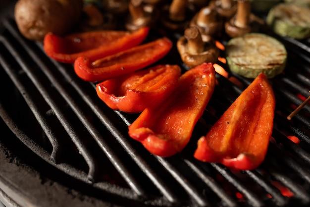 Kookproces op de grill