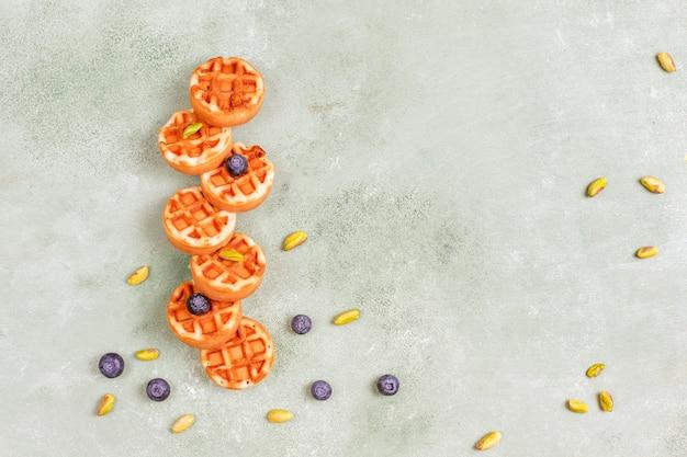 Koolhydratenontbijt, pannenkoeken, pannenkoeken, wafels.