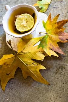Kop thee met citroen