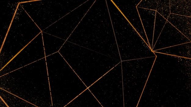 Koperen icosaëder patroon op een zwarte