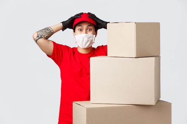 Kopie-ruimte bezorger met doos