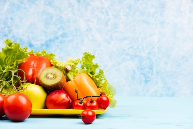 Kopieer de ruimte achtergrond met gezonde snack