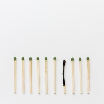 Kopieer één gebrande match