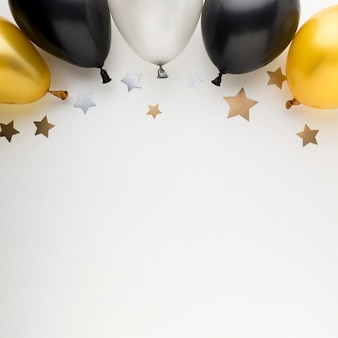Kopieer ruimte ballonnen voor feest