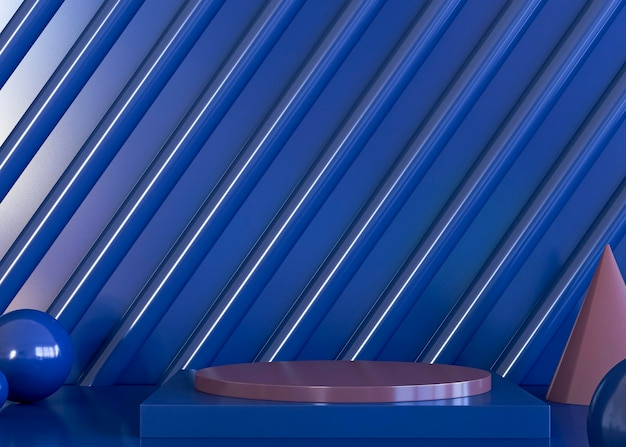 Kopieer ruimte blauwe geometrische vormen achtergrond