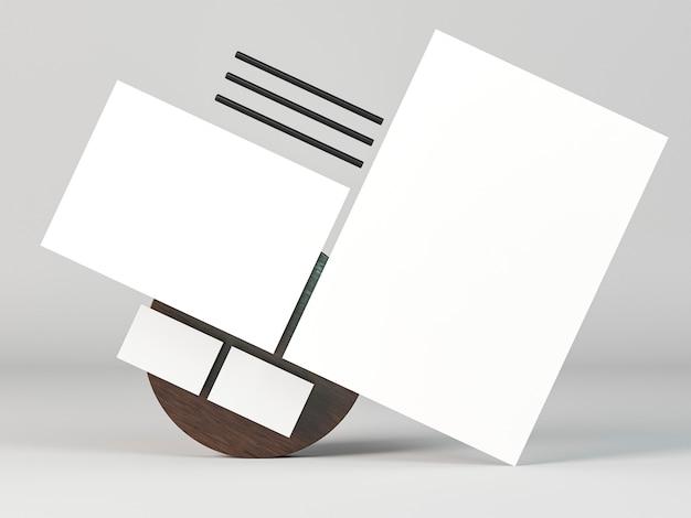 Kopieer ruimte briefpapier documenten abstracte positie