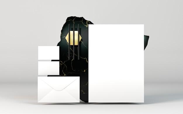 Kopieer ruimte briefpapier documenten vooraanzicht