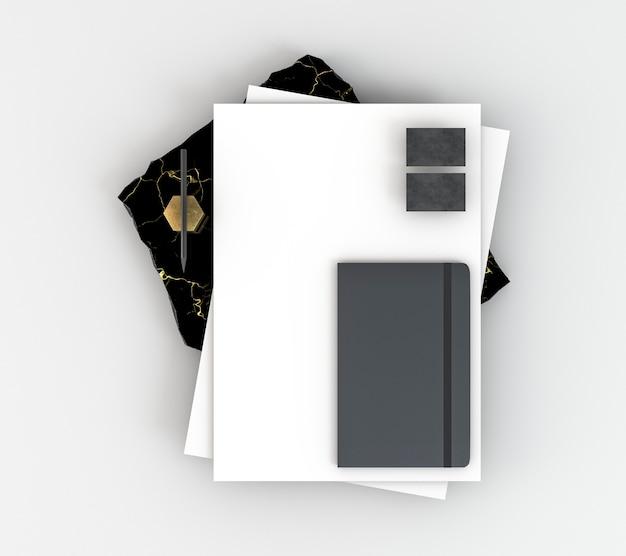 Kopieer ruimte briefpapier documenten