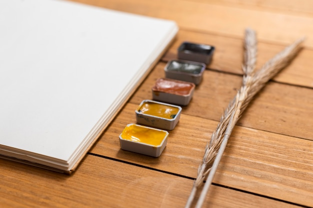 Kopieer ruimte kladblok en kleuren