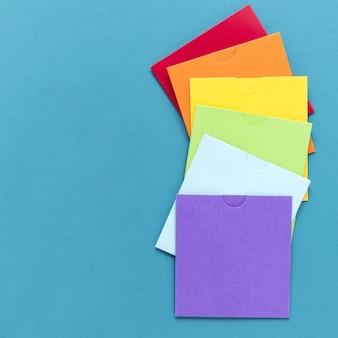 Kopieer ruimte kleurrijk papier