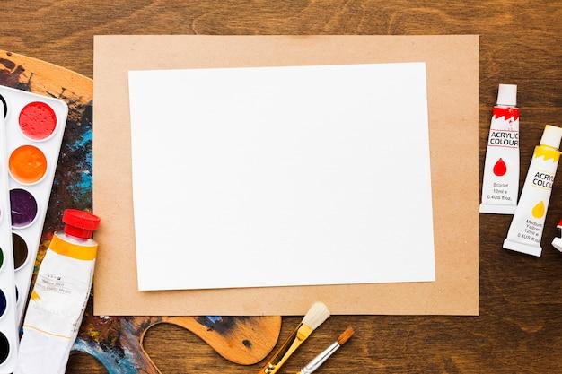 Kopieer ruimte papier en acryl
