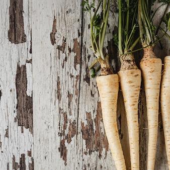 Kopieer ruimte peterselie wortels groenten