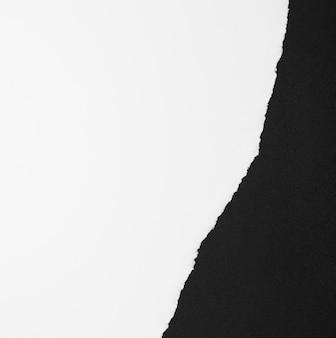 Kopieer ruimte wit en zwart papier