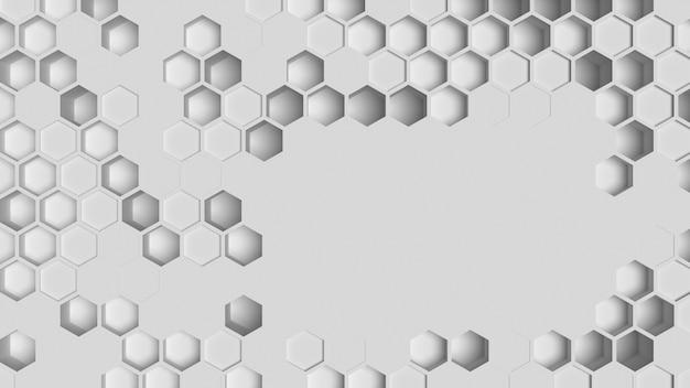 Kopieer ruimte witte geometrische achtergrond