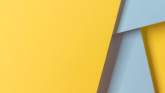 Kopieerruimte gele en blauwe kasten