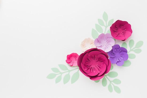 Kopieerruimte papieren bloemen